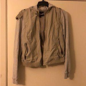 Cream and grey jacket